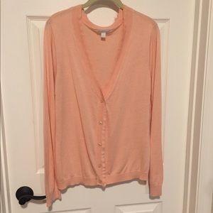 NY&Co. Peach Cardigan - Sz XL